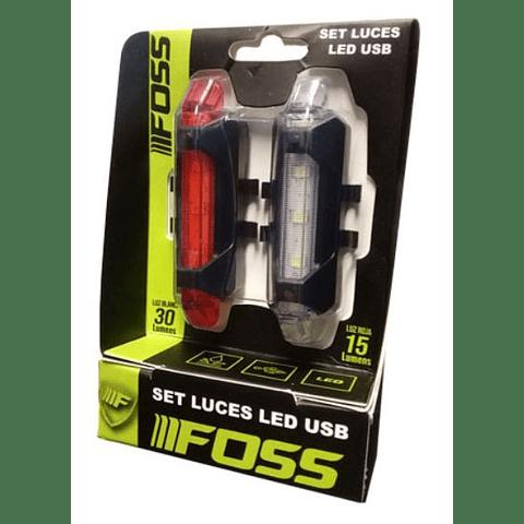 Set Luces Foss Led USB, 30-15 Lumens