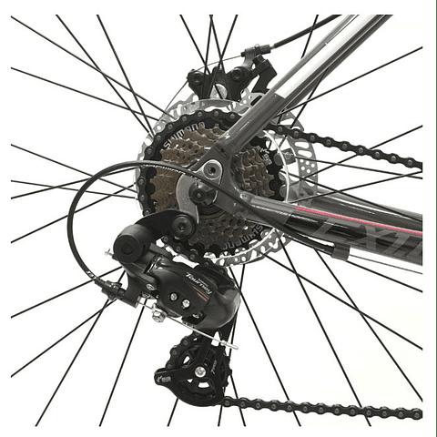 Bicicleta Radical Mountain 700c Cx 1.0 Gris con Rojo