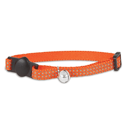 CAT COLLAR GLOW NARANJO