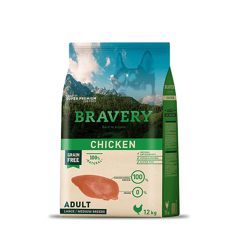 CHICKEN ADULT LB/MB 12 KG
