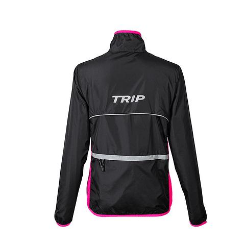 CORTAVIENTO TRIP BLACK/PINK
