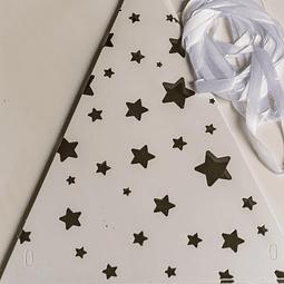 Guirnalda Banderín Estrellas 3mts (Silver o Gold)