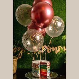 Set de globos Rosé