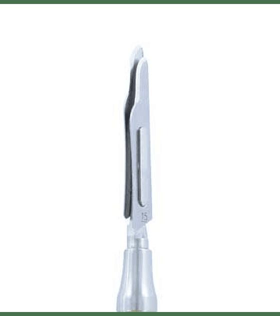 Scalpel Handle (Gold Titanium) - offset double