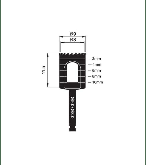 Trephine Bur 9.0/8.0mm