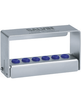 Stainless Steel Bur Block For 6 Latch Type & FG Burs