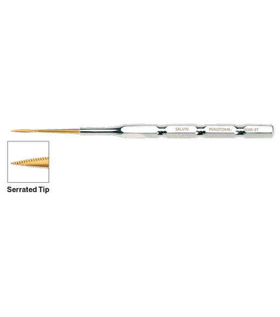 Straight Periotome With Serrated Tip