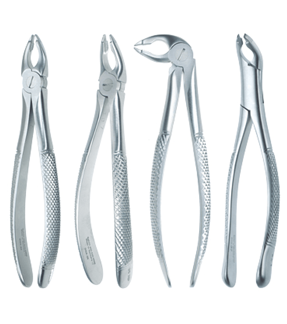 Set of 4 Deep Grip Forceps