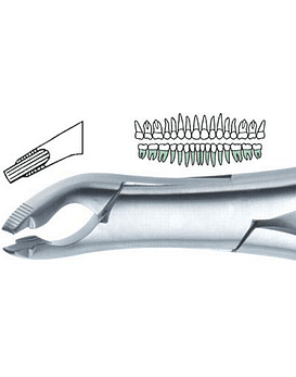Deep Gripping Lower Atraumatic Extraction Forcep