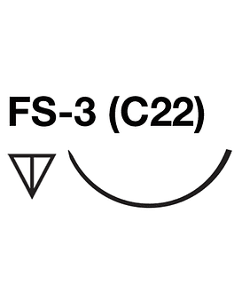 Salvin SurgiPoint 5-0 PGA Suture C22 (FS-3) Needle 18