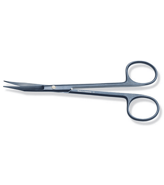 Black Kryptonite™ Goldman Fox Scissors 12.5cm Curved
