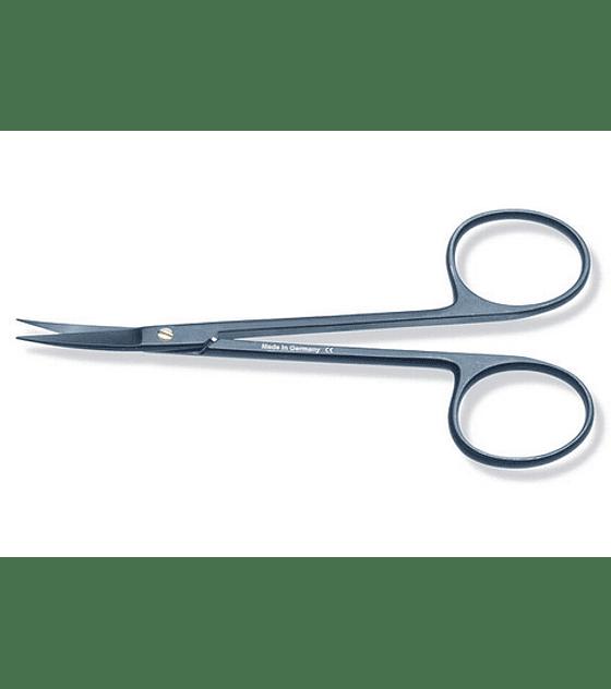 Black Kryptonite™ Iris Scissors 11.5cm Curved