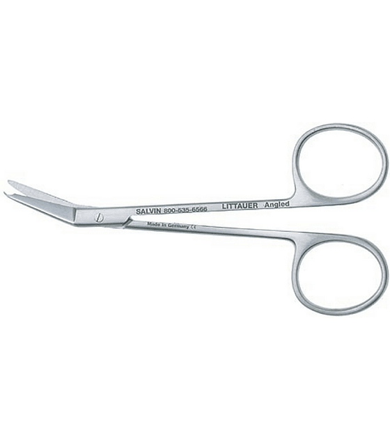 Littauer Angled Suture Removal Scissors