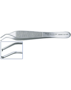 Adson 1x2 Curved Tissue Forceps