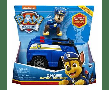 Paw patrol vehiculo basico + figura Chase