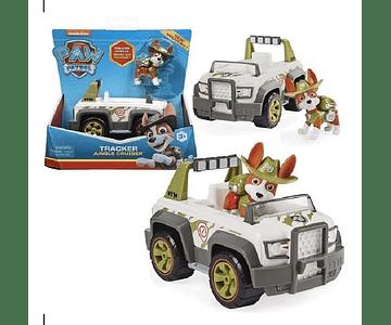 Paw patrol vehiculo basico + figura tracker