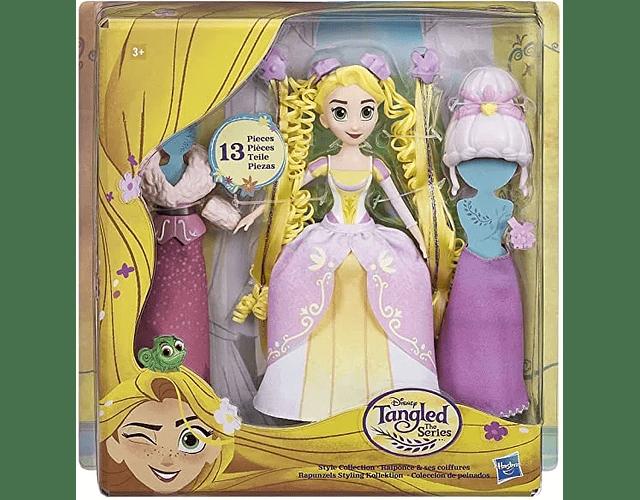 Hasbro Rapunzel Muñeca Coleccion Peinados Y Vestidos 22 Cm