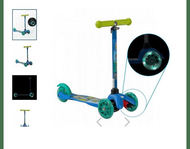 Scooter micro 3 ruedas con luz Madagascar