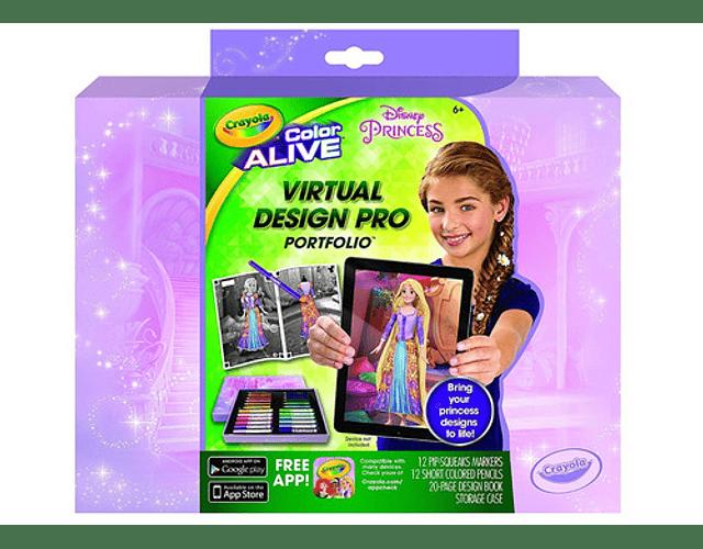 Crayola set virtual design pro princesas