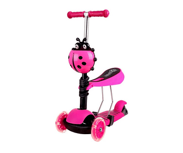 Scooter 3 En 1, 2 A 5 Años Color fucsia