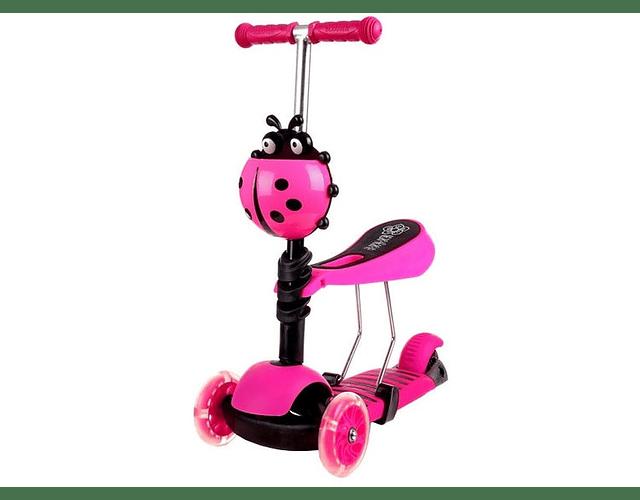 Scooter 3 En 1, 2 A 5 Años Color fucsia
