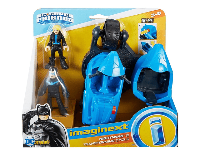 Imaginext Nightwing Transforming Cycle
