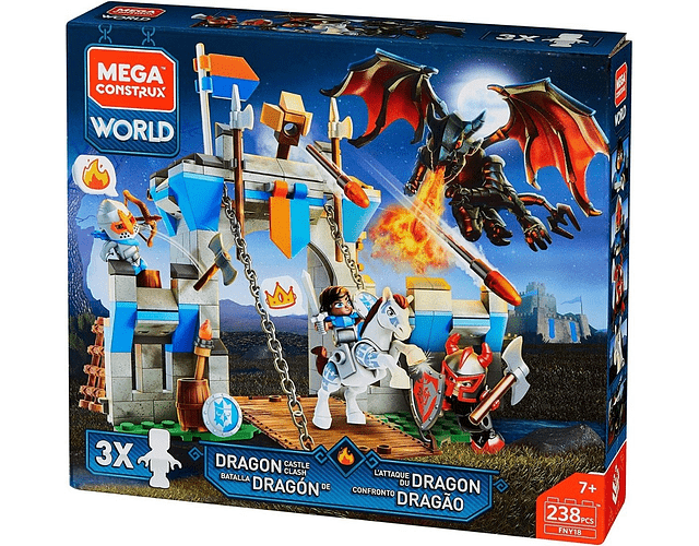 Mega Construx Set Batalla Del Dragon 238 Pcs