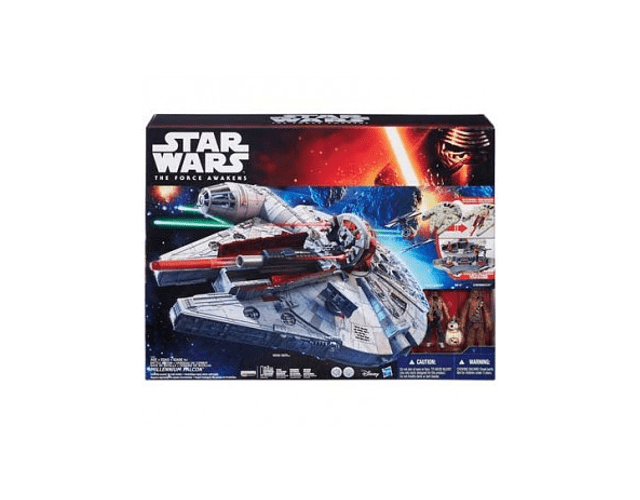 FIGURA BATTLE ACTION MILLENNIUM FALCON STAR WARS