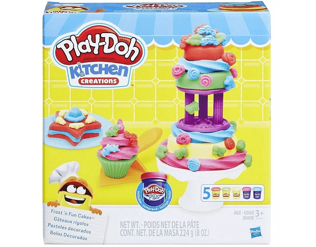 play doh Pasteles Decorados