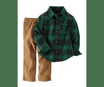 Carters Camisa + Pantalon 18m
