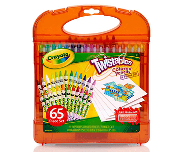 crayola set twistables 65 piezas