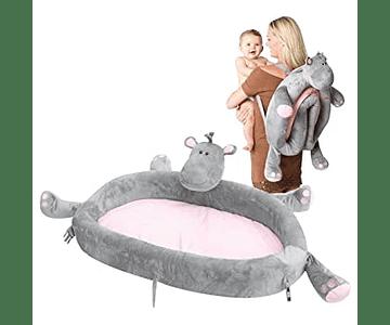 Cuna de viaje lulyzoo, hipopótamo