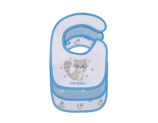 Bambino pack 3 baberos azules