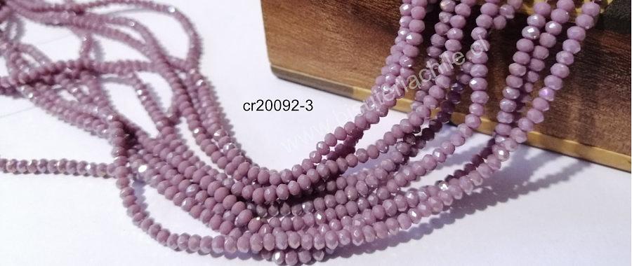 Cristal facetado lila de 2 x 2 mm, tira de 190 cristales aprox
