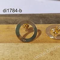 Base de aro baño de oro, 18 mm, por par
