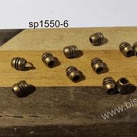 Separador envejecido, 6 x 3 mm, agujero de 2 mm, set de 12 unidades