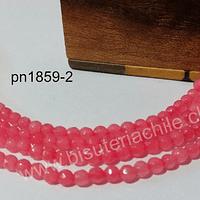 Agatas, Agata de 4 mm, en tonos rosado, 87 piedras aprox