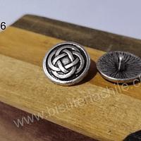 Botón con diseño nudo celta, 17 mm, set de 2 unidades