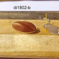 Base de aro baño de oro 19 x 10 mm, por par