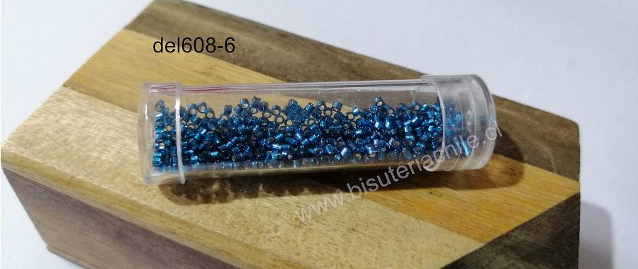 Delica color calipso metalizado, miyuki, 3 gr
