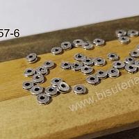 Separador plateado, 4 x 1,5 mm, set de 35 unidades