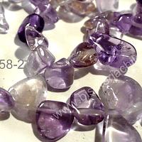 Ametrino, chip redondeado, piedra entre 10 a 14 mm, tira de 40 cm