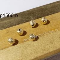 Separador baño de oro escarchado, 6 mm, set de 6 unidades