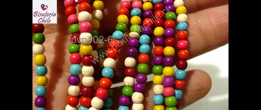 Perla de resina de colores variados, 4 mm, tira de 115 unidades aprox.