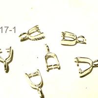 Valier 11 mm de largo incluido el colgante x 4 mm,< de ancho set de 6 unidades