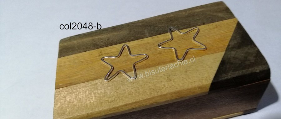 Colgante baño de plata en forma de estrella, 20 mm, por par