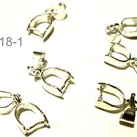 Valier 16 mm de largo incluido el colgante x 6 mm, de ancho set de 6 unidades