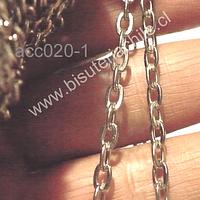 Cadena de acero, eslabón de 2,5 x 2,5 mm