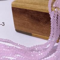 Cristal facetado rosado tornasol de 2 x 2 mm, tira de 190 cristales