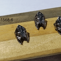 Separador en forma de casco romano color negro, 10 x 15 mm, set de 3 unidades